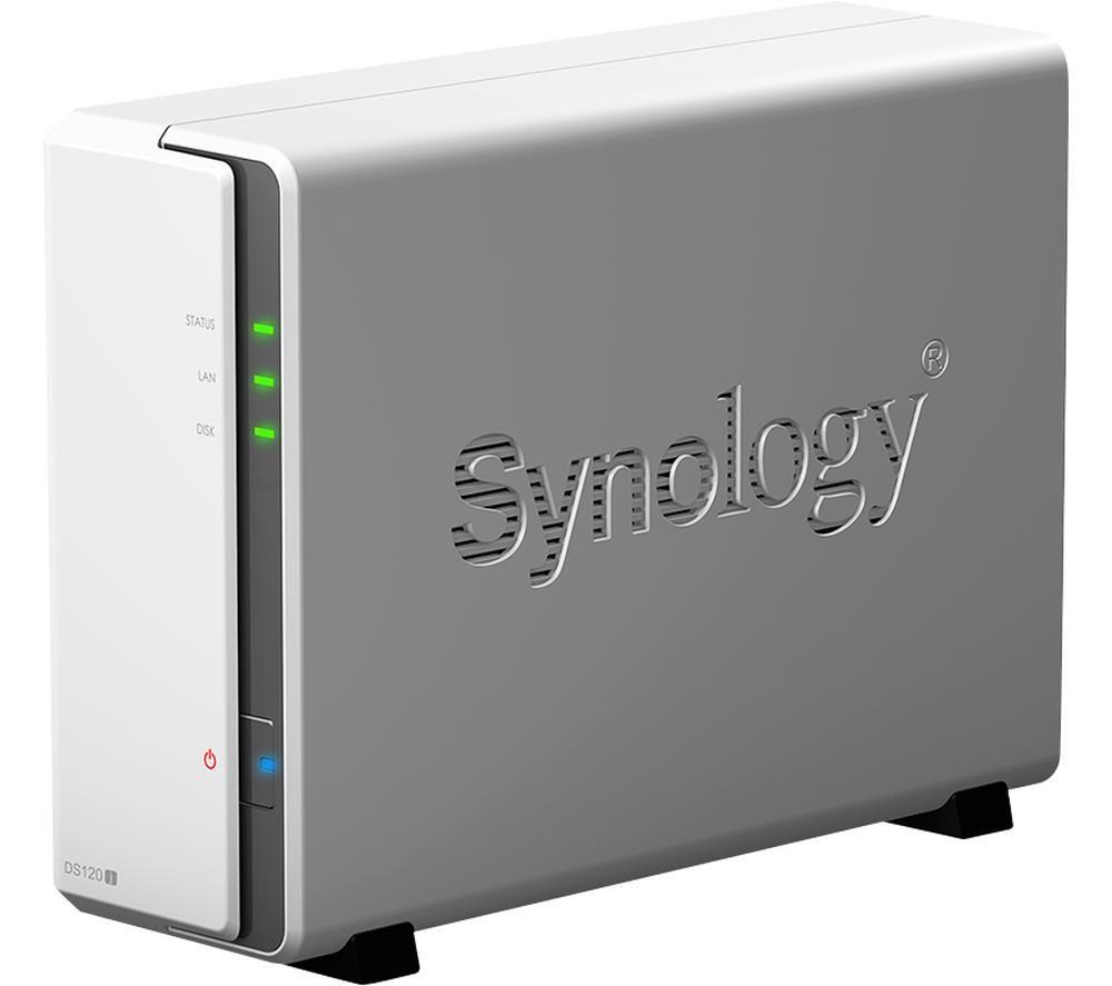 SYNOLOGY DS120J Disk Station Server NAS Drive - 6 TB, 1 Bay, White