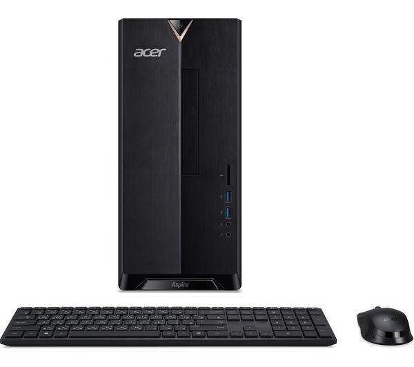 Image of ACER Aspire TC-390 Desktop PC - AMD Ryzen 3, 1 TB HDD & 128 GB SSD, Black
