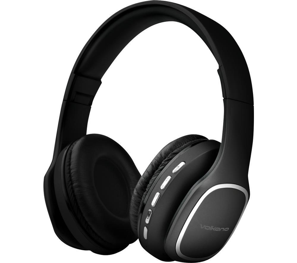 VOLKANO Phonic VK-2002-BK Wireless Bluetooth Headphones - Black, Black