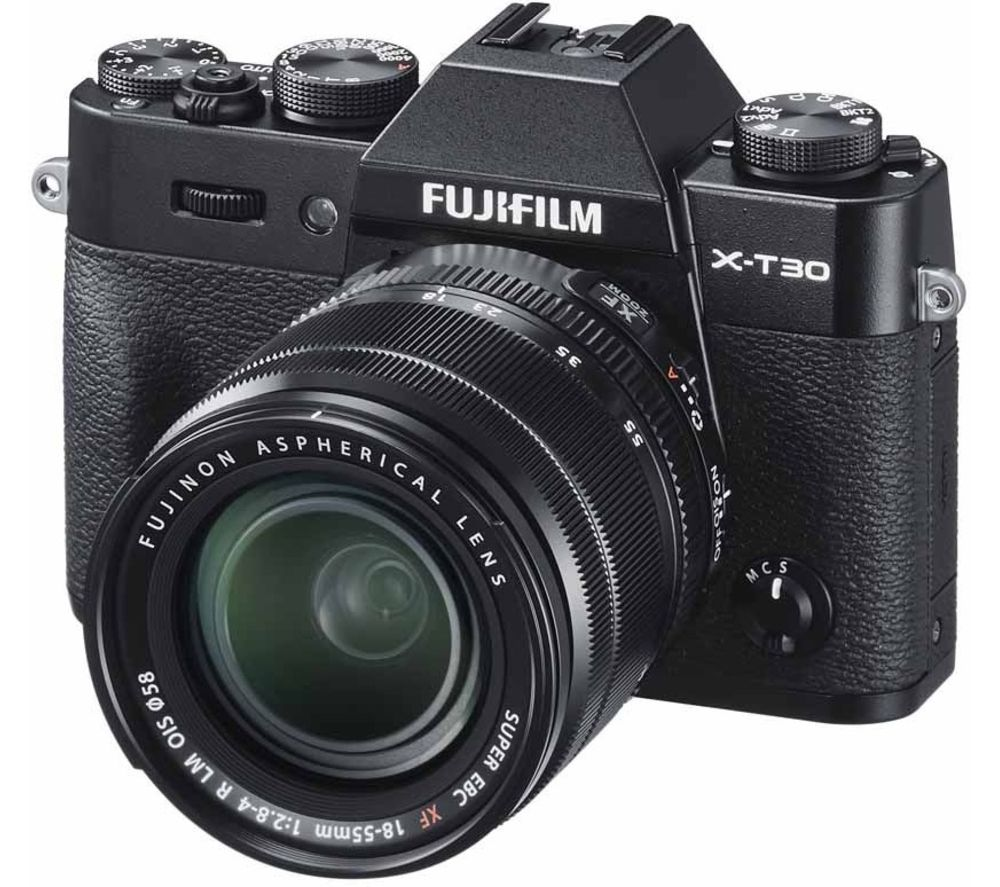 Fujifilm X T30 Mirrorless Camera With Fujinon Xf 18 55 Mm F 28 4 R Lm Ois Lens Black Black