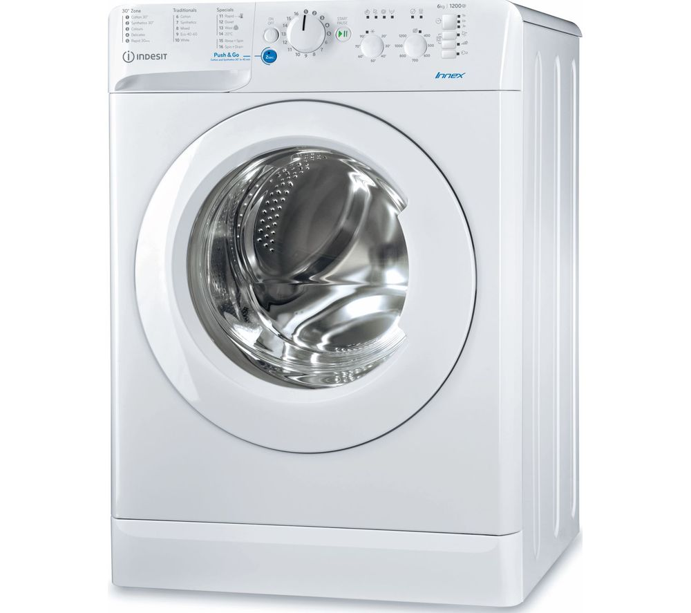 INDESIT Innex BWSC 61251 XW UK N 6 kg 1200 Spin Washing Machine - White, White