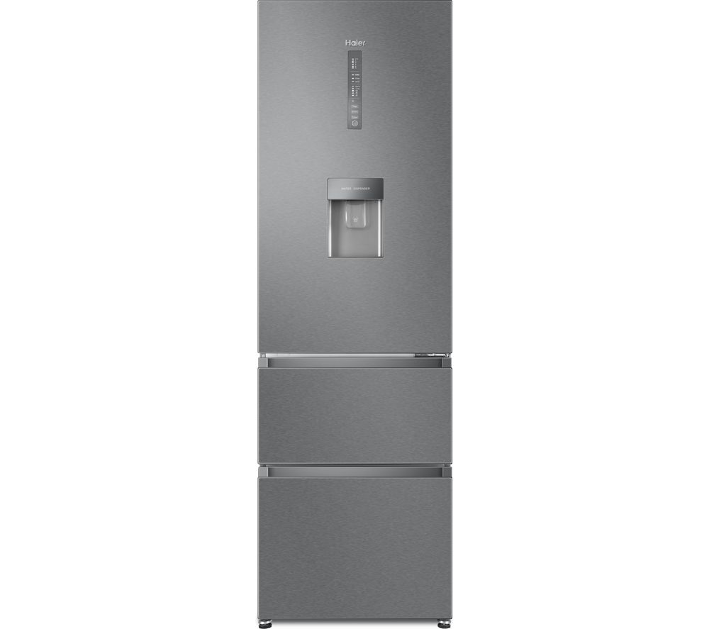 HAIER HTR5619FWMI 70/30 Fridge Freezer - Stainless Steel