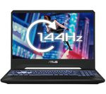£1199, ASUS TUF FX505DV 15.6inch Gaming Laptop - AMD Ryzen 7, RTX 2060, 512 GB SSD, AMD Ryzen 7 3750H Processor, RAM: 16GB / Storage: 512GB SSD, Graphics: NVIDIA GeForce RTX 2060 6GB, Full HD screen / 144 Hz, Battery life:Up to 4 hours,