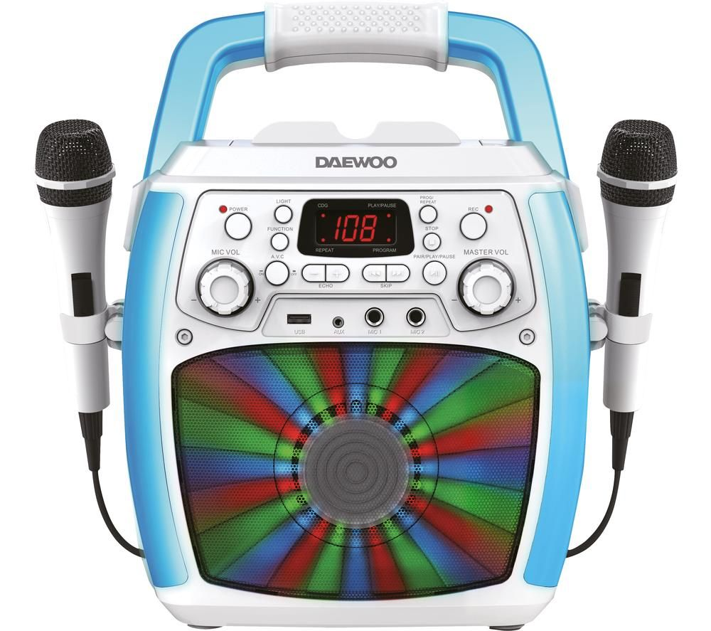DAEWOO AVS1301 Bluetooth Karaoke System - White