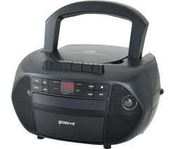 Traditional GV-PS833 Portable FM Boombox - Black
