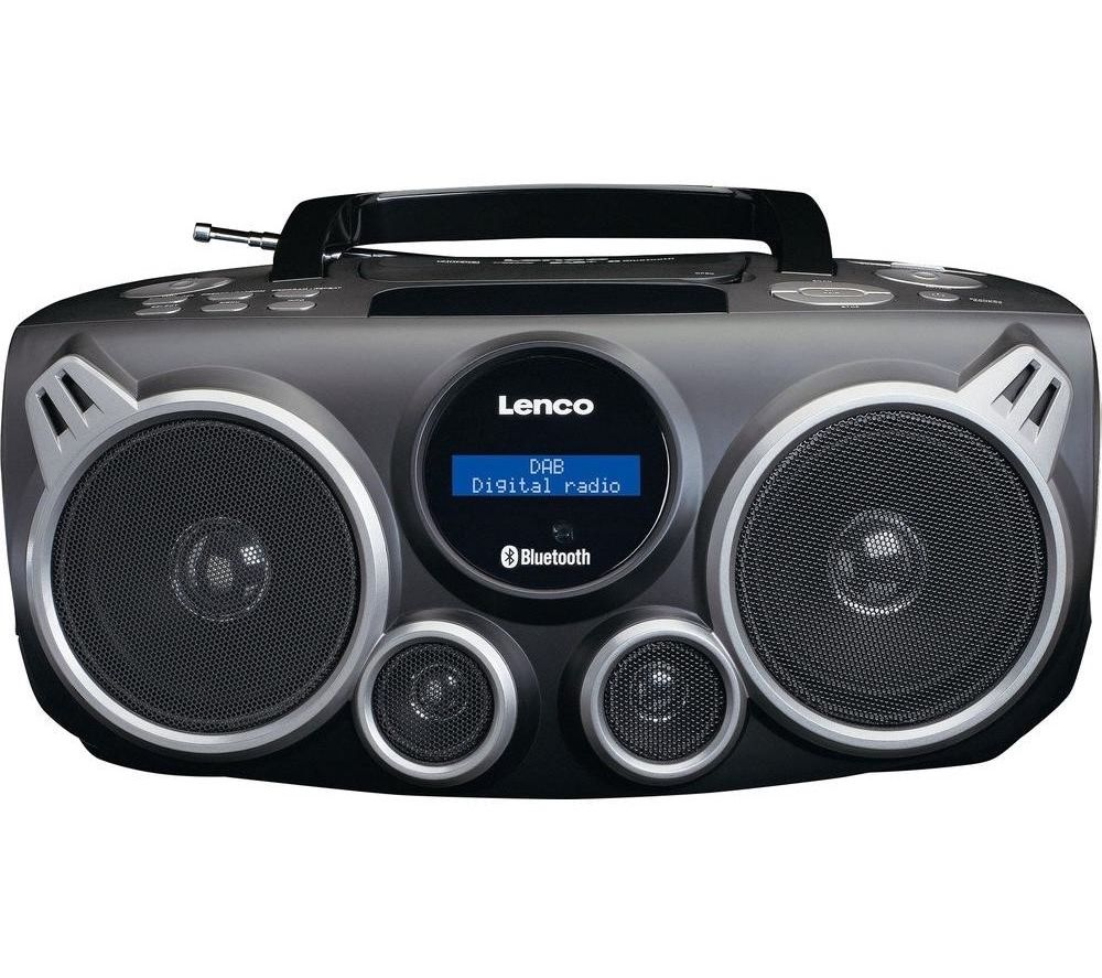Image of LENCO SCD-685 DAB? Bluetooth Boombox - Black, Black