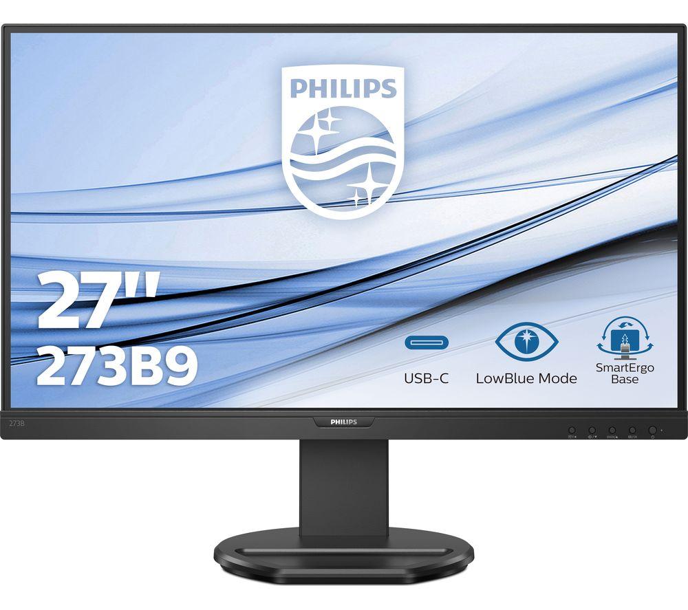 "Image of PHILIPS 273B9 Full HD 27"" LCD Monitor - Black, Black"