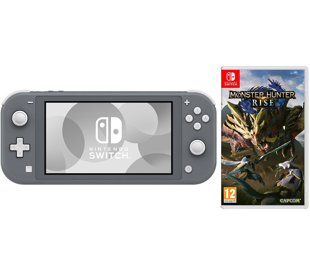 NINTENDO Switch Lite & Monster Hunter Rise Bundle - Grey