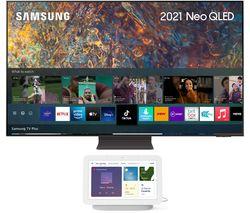 """QE75QN94AATXXU 75"""" 4K Ultra HD Neo QLED TV & Chalk Google Nest Hub (2nd Gen) Bundle"""