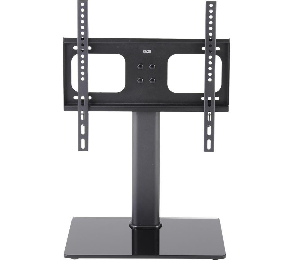 TTAP TT44S Swivel Tabletop TV Stand with Bracket - Black Glass, Black