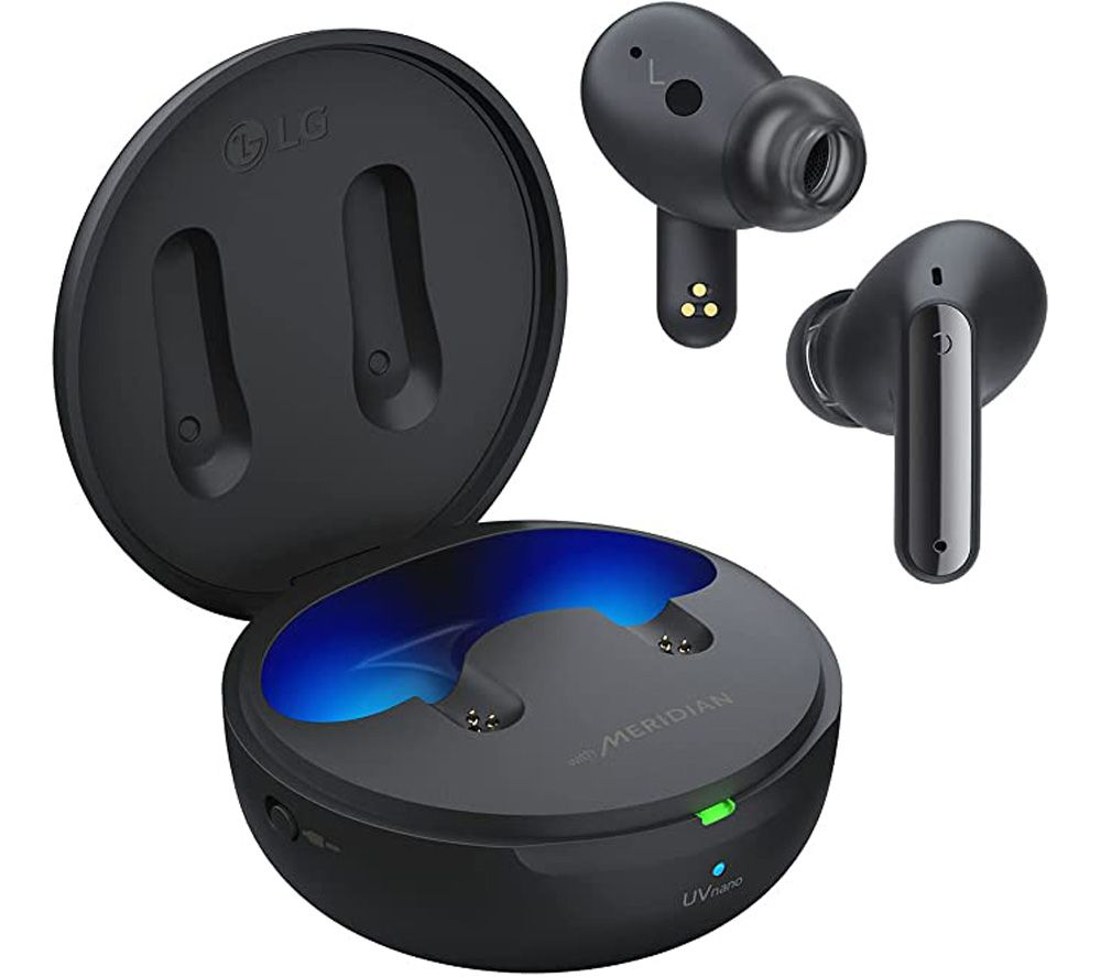 LG TONE Free UFP9 Wireless Bluetooth Noise-Cancelling Earbuds - Black