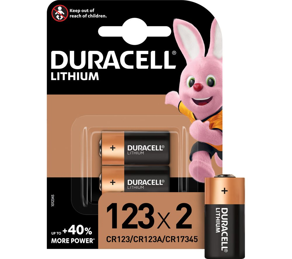 DURACELL DL123A/CR123A/EL123A Ultra Photo 123A Lithium Camera Batteries