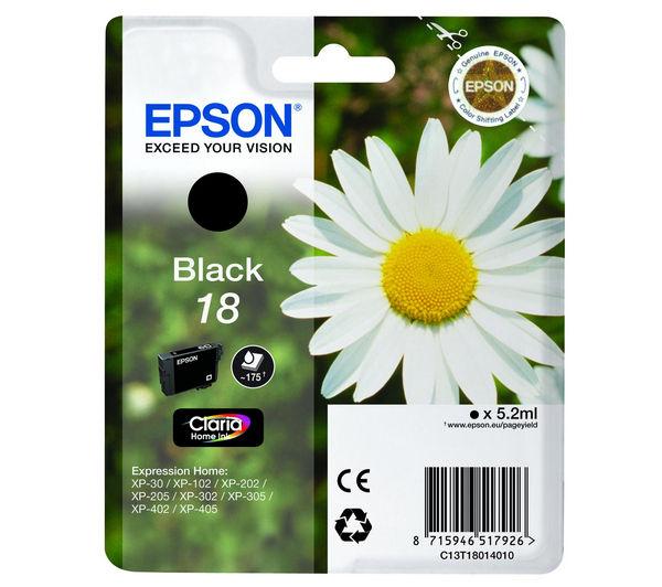Image of EPSON Daisy T1801 Black Ink Cartridge