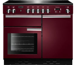 RANGEMASTER Professional+ 100 Induction Range Cooker - Cranberry & Chrome Best Price, Cheapest Prices