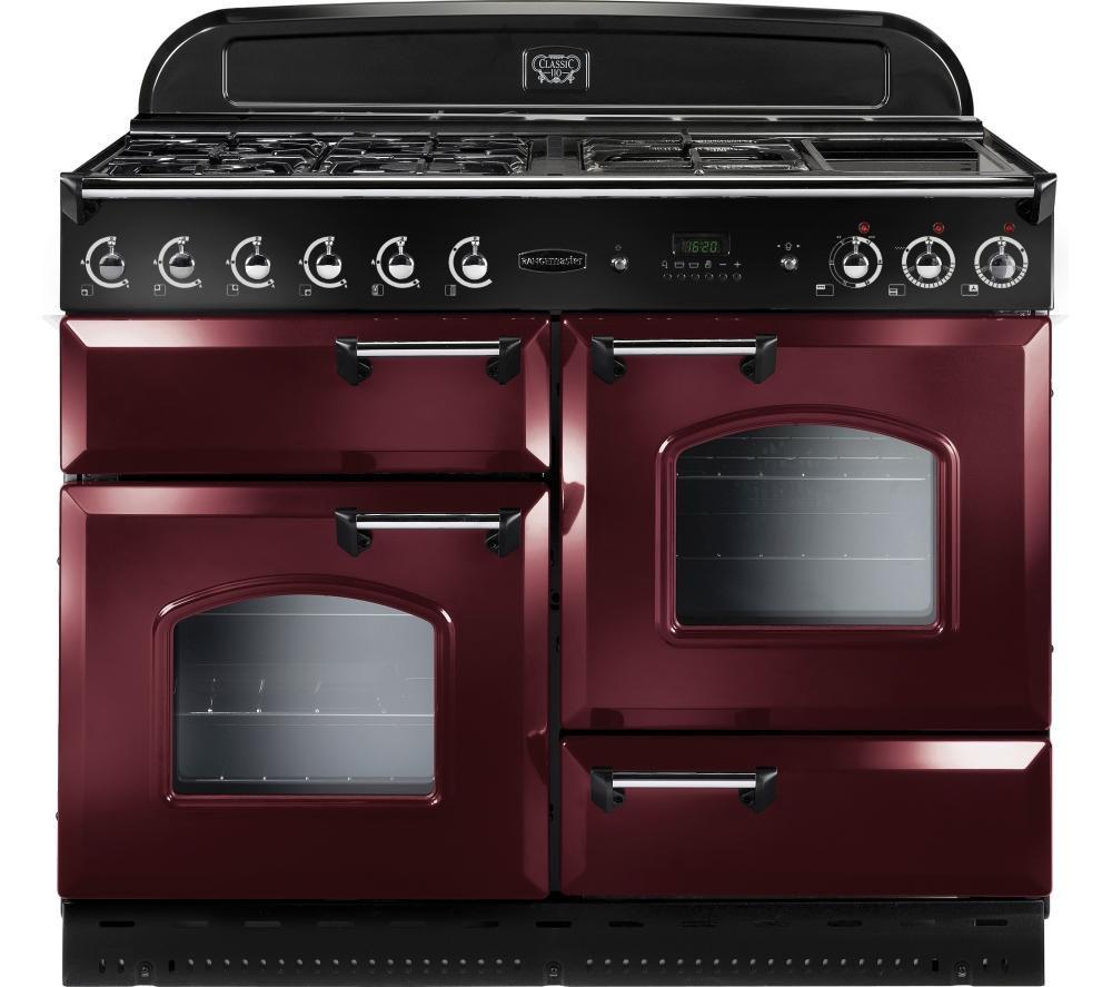 RANGEMASTER Classic 110 Gas Range Cooker - Cranberry & Chrome
