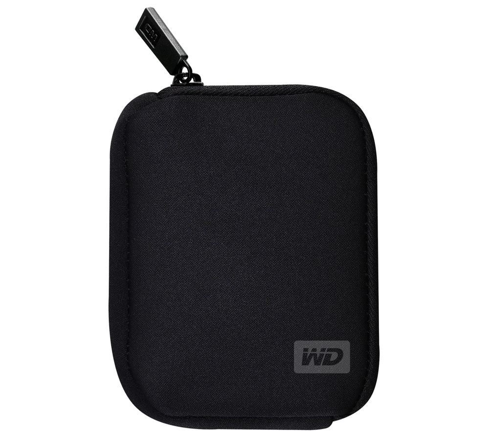 WD My Passport Portable Hard Drive Carry Case - Black