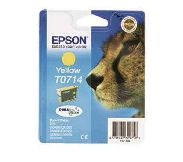 EPSON Cheetah T0714 Yellow Ink Cartridge