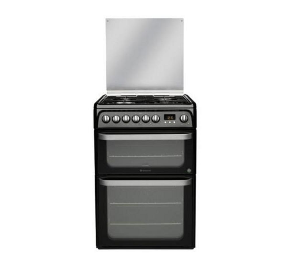 HOTPOINT HUD61K Ultima S Dual Fuel Cooker - Black