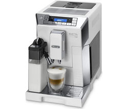 DELONGHI Eletta Cappuccino ECAM45.760W Bean to Cup Coffee Machine - White & Silver
