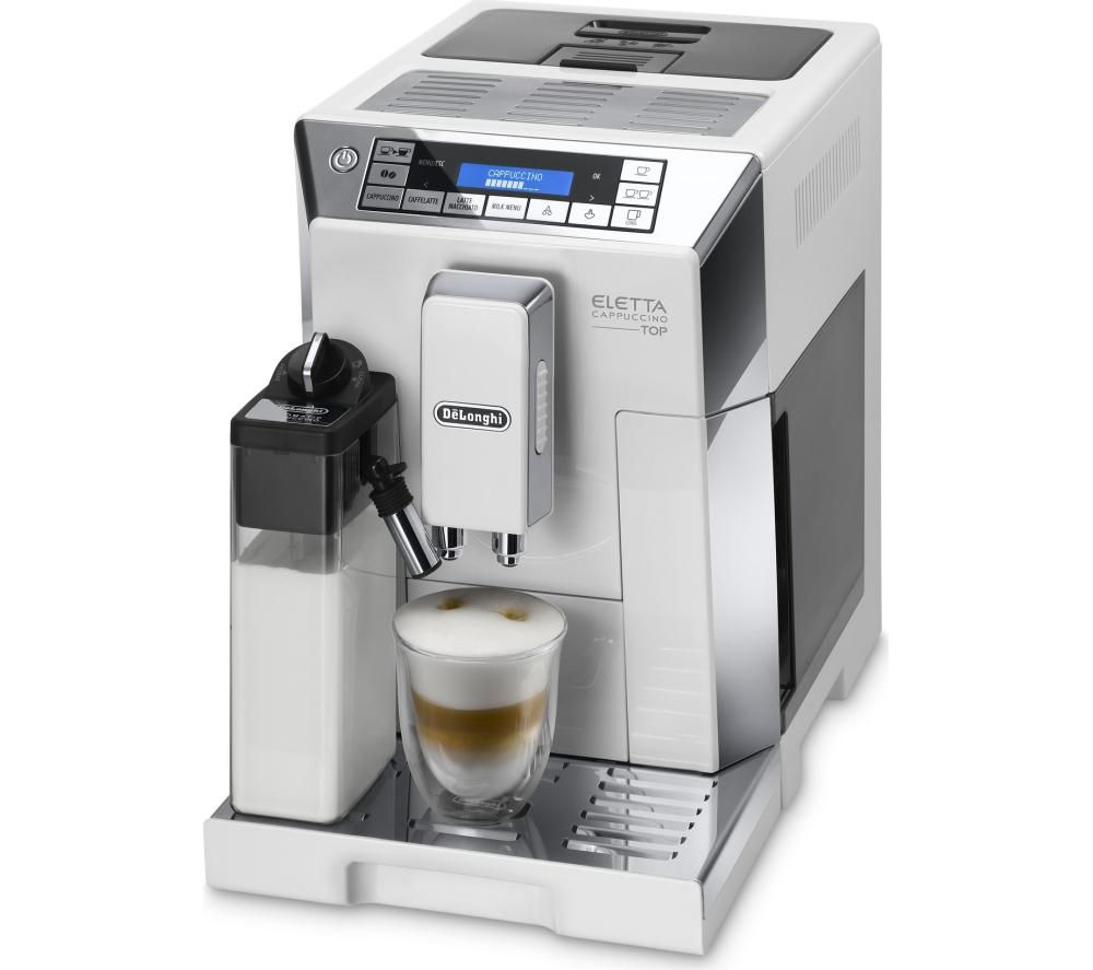 buy delonghi eletta cappuccino top bean to cup coffee machine white silver. Black Bedroom Furniture Sets. Home Design Ideas