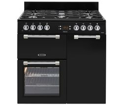 LEISURE Cookmaster CK90G232K 90 Dual Fuel Range Cooker - Black Best Price, Cheapest Prices