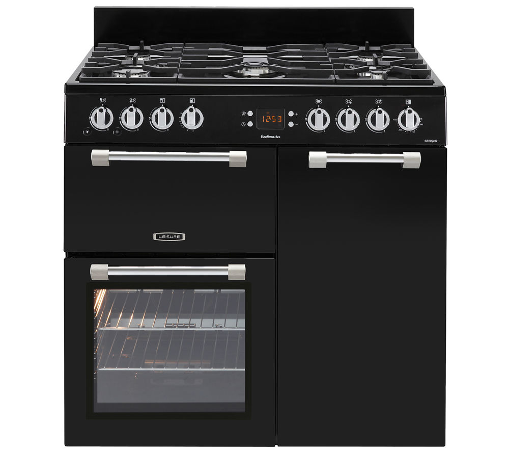 LEISURE Cookmaster 90 Dual Fuel Range Cooker - Black