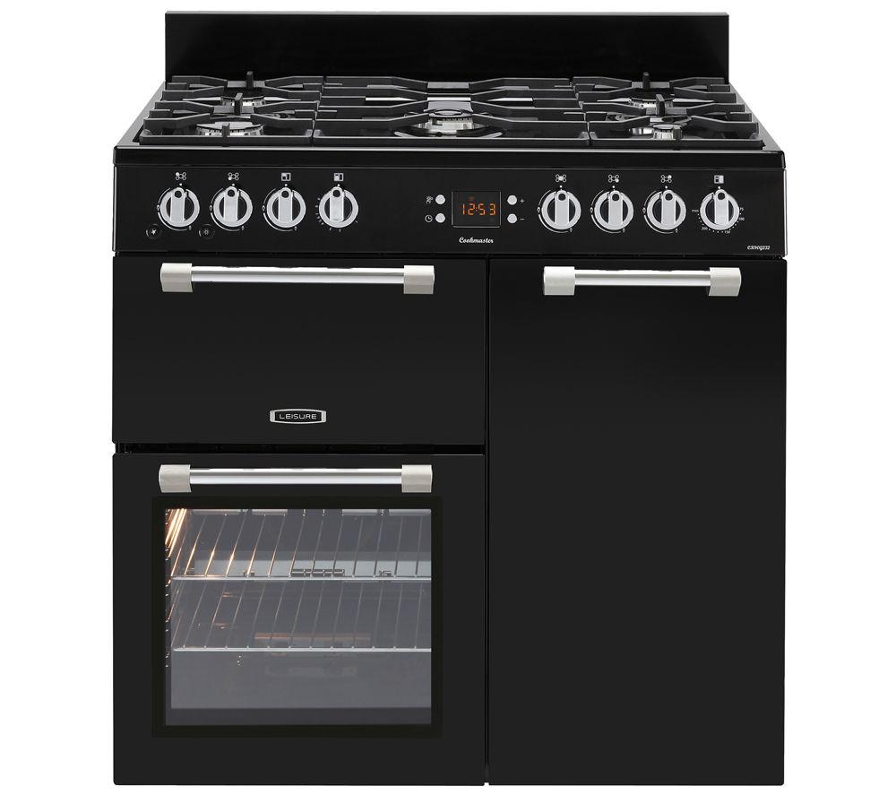 LEISURE Cookmaster 90 Gas Range Cooker - Black, Black