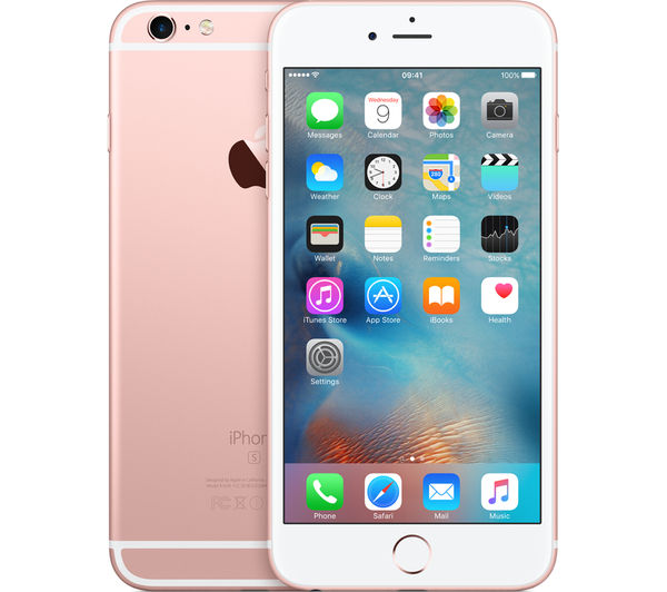 Mku52ba Apple Iphone 6s Plus 16 Gb Rose Gold Currys