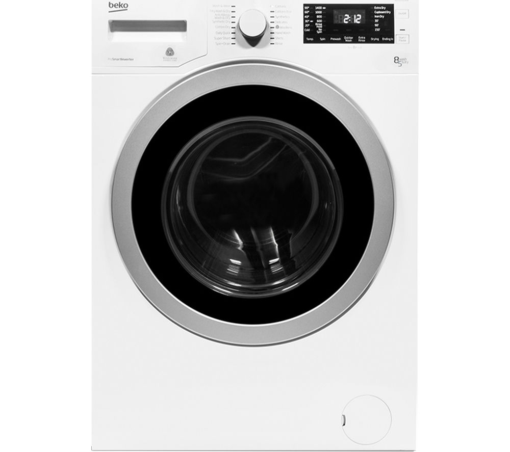 Cheap Washer Dryer Uk Part - 26: BEKO WDX8543130W Washer Dryer - White