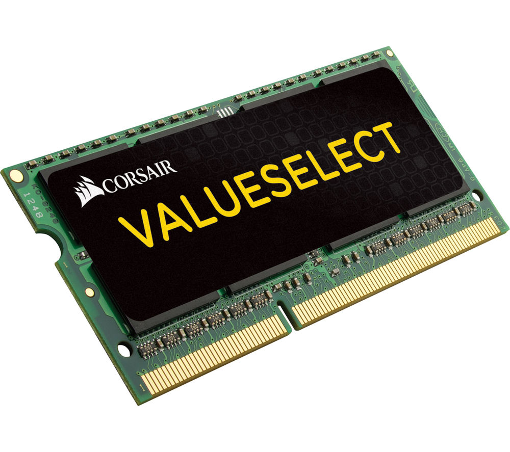 Image of CORSAIR ValueSelect CMSO4GX3M1C1600C11 DDR3L Laptop Memory - 4 GB SODIMM RAM