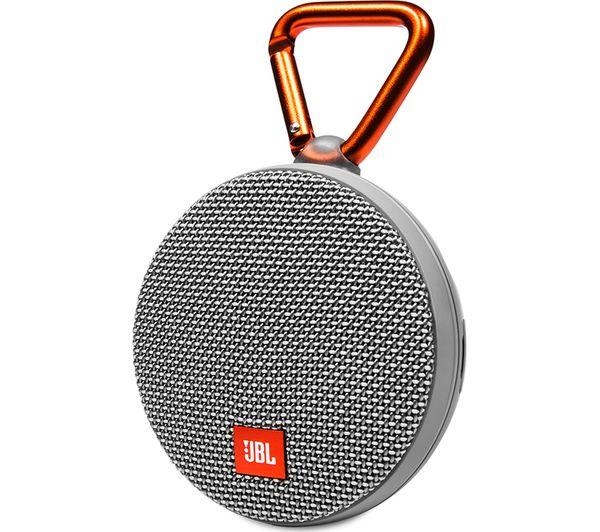 buy jbl clip 2 portable bluetooth wireless speaker grey. Black Bedroom Furniture Sets. Home Design Ideas