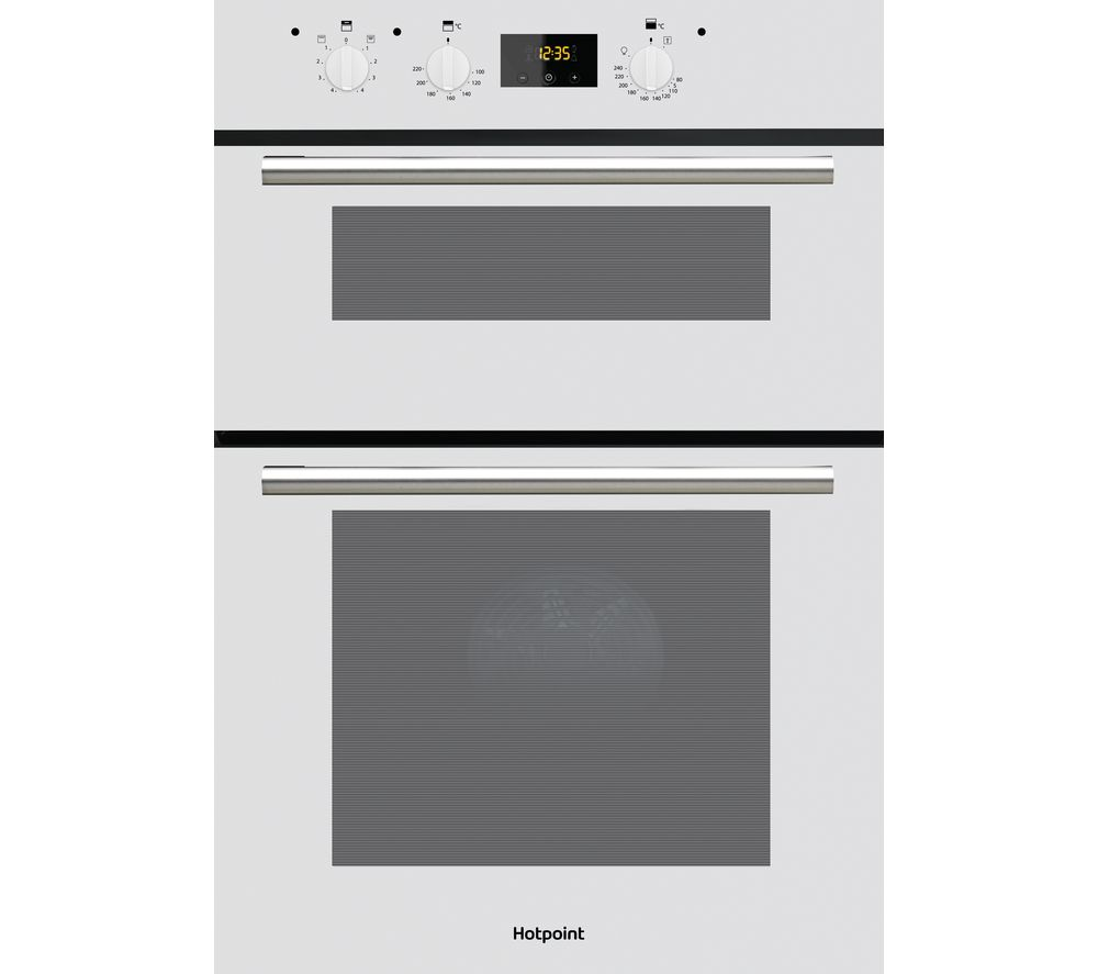 HOTPOINT Class 2 DD2 540 Electric Double Oven - White, White