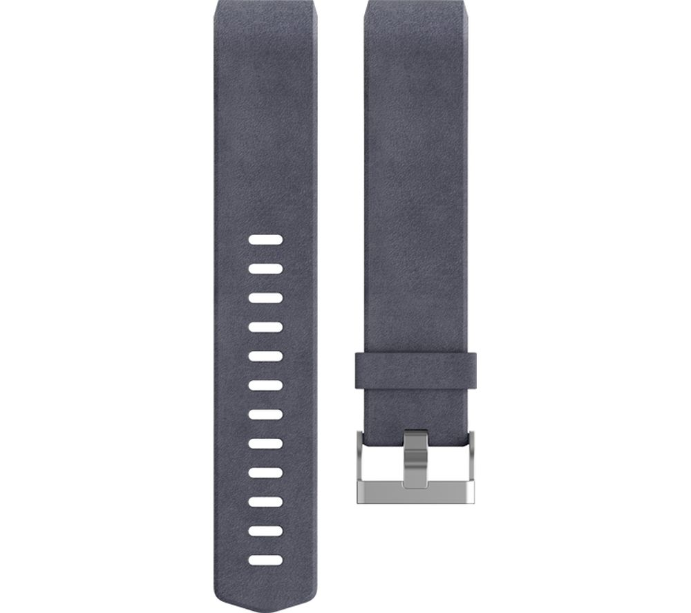 FITBIT Charge 2 Leather Accessory Band - Indigo, Large + Charge 2 - Blue, Large
