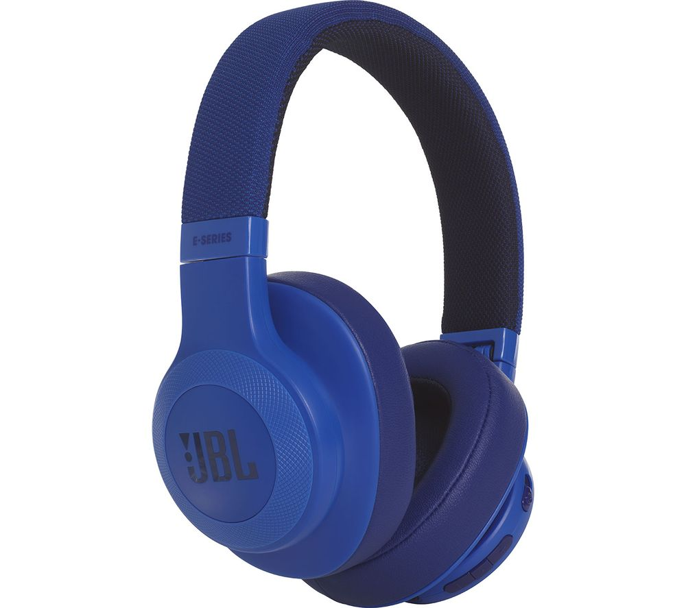 9a1847f8607 Buy JBL E55BT Wireless Bluetooth Headphones - Blue | Free Delivery | Currys