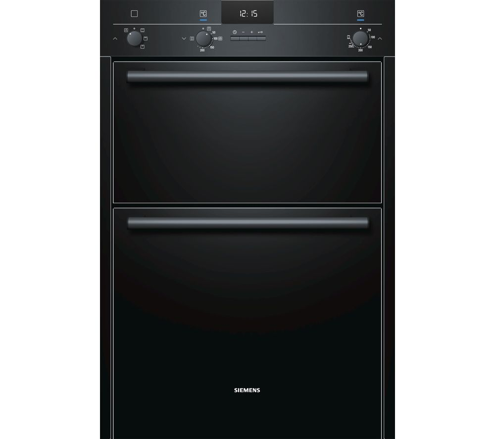 SIEMENS iQ100 HB13MB621B Electric Double Oven - Black