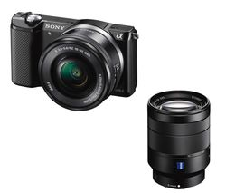 SONY a5000 Mirrorless Camera with 16-50 mm f/3.5-5.6 Lens - Black