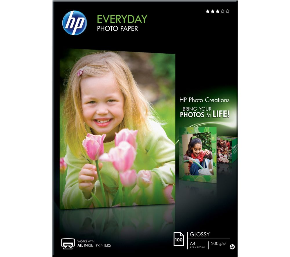 HP A4 Photo Paper - 100 sheets