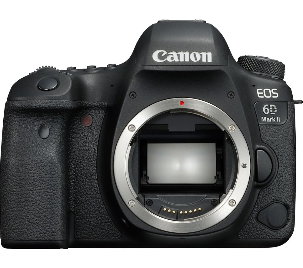 Image of CANON EOS 6D Mark II DSLR Camera - Black, Body Only, Black