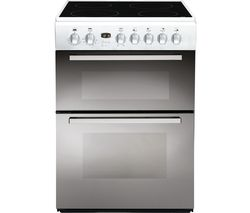 INDESIT DD60C2CA(W) 60 cm Electric Ceramic Cooker - White & Stainless Steel