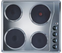 INDESIT TI 60 X Electric Solid Plate Hob - Silver Best Price, Cheapest Prices