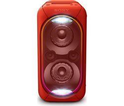 SONY EXTRA BASS GTK-XB60R Wireless Megasound Hi-Fi System - Red