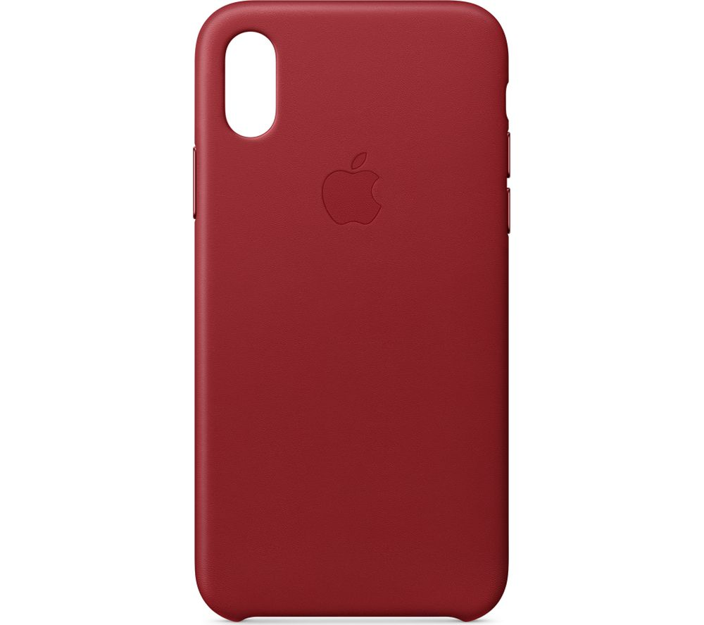 buy online e73ac 7de80 APPLE iPhone X Leather Case - Red