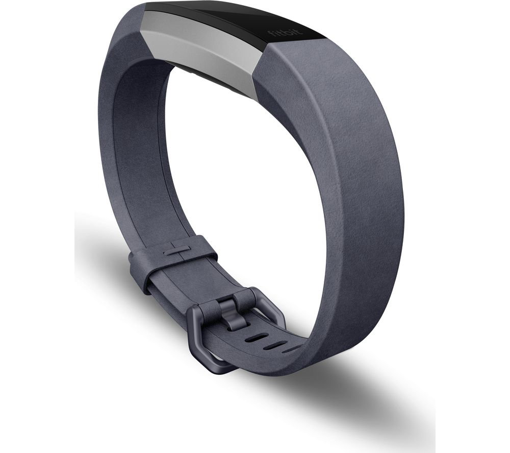 Compare prices for Fitbit Alta HR Leather Band - Indigo - Small