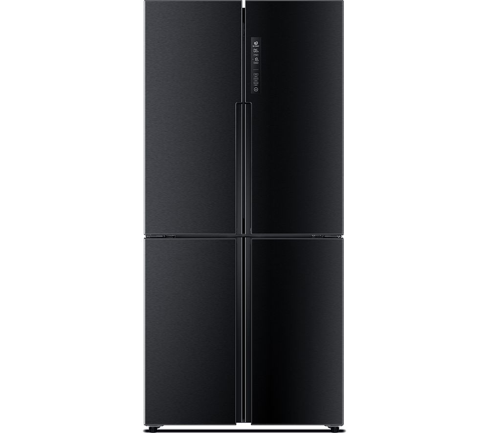 buy haier htf 456dn6 fridge freezer black free delivery currys. Black Bedroom Furniture Sets. Home Design Ideas