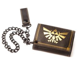 NINTENDO Zelda Twilight Princess Trifold Wallet with Chain