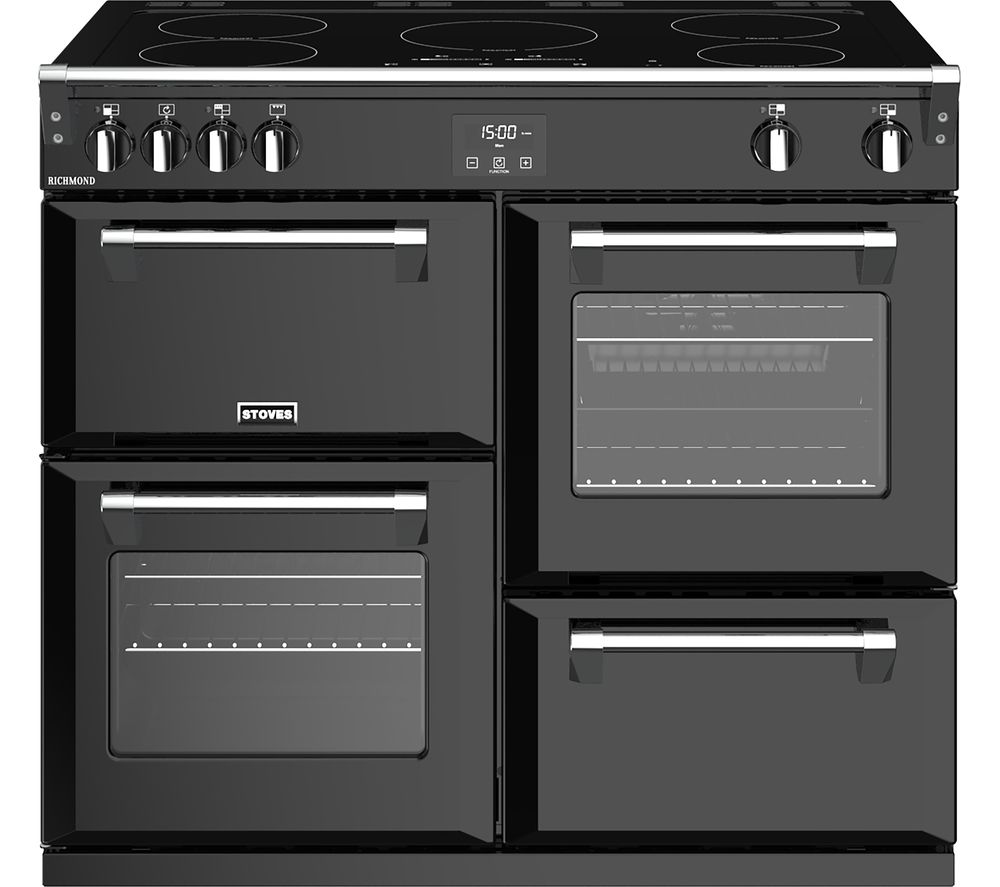 Stoves Richmond S1000ei 100 Cm Electric Induction Range Cooker Black Free Delivery Currys