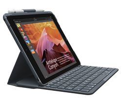 "LOGITECH Slim Folio 9.7"" iPad Keyboard Case - Black"