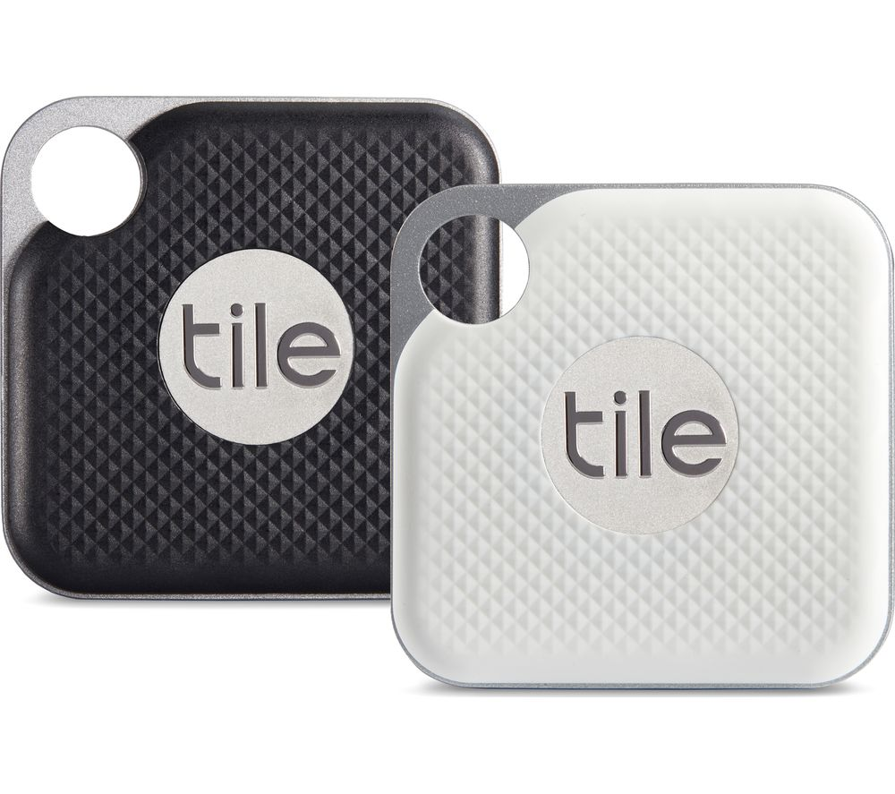 TILE Pro Bluetooth Tracker - Black & White, Pack of 2