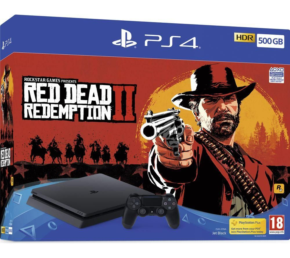 SONY PlayStation 4 with Red Dead Redemption 2 - 500 GB