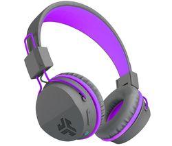 JBuddies Studio Wireless Bluetooth Kids Headphones - Purple
